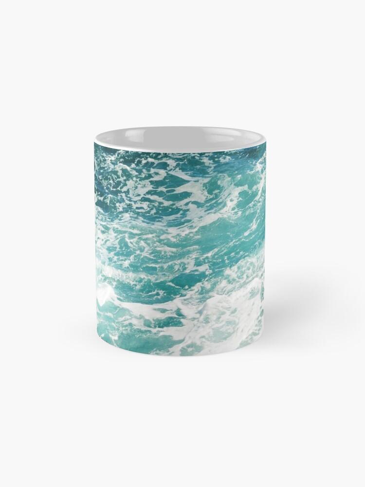 Alternative Ansicht von Blaue Meereswellen Tasse