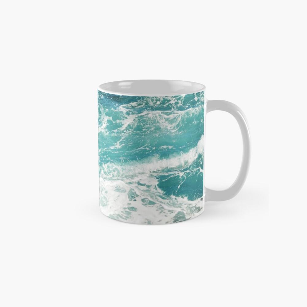 Blaue Meereswellen Tasse