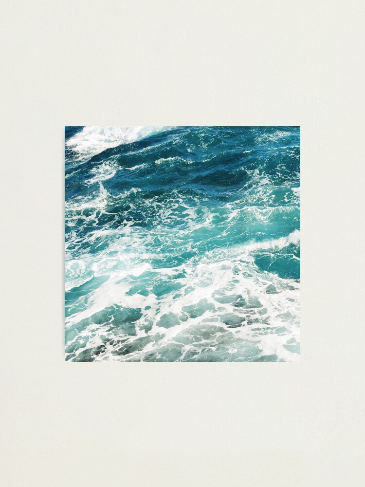 Alternate view of Blue Ocean Waves  Photographic Print
