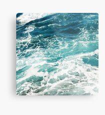 Blaue Meereswellen Metallbild