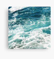 Blaue Meereswellen Leinwanddruck