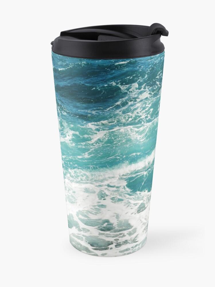 Alternative Ansicht von Blaue Meereswellen Thermobecher