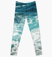 Blue Ocean Waves  Leggings