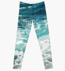 Legging Blue Ocean Waves