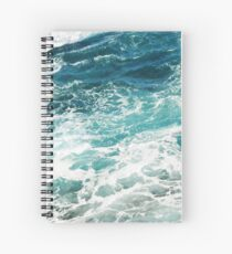 Blue Ocean Waves  Spiral Notebook