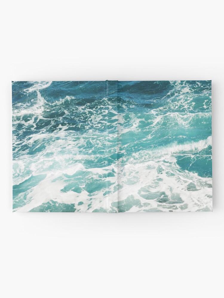 Alternative Ansicht von Blaue Meereswellen Notizbuch