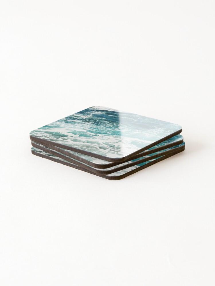Alternate view of Blue Ocean Waves  Coasters (Set of 4)