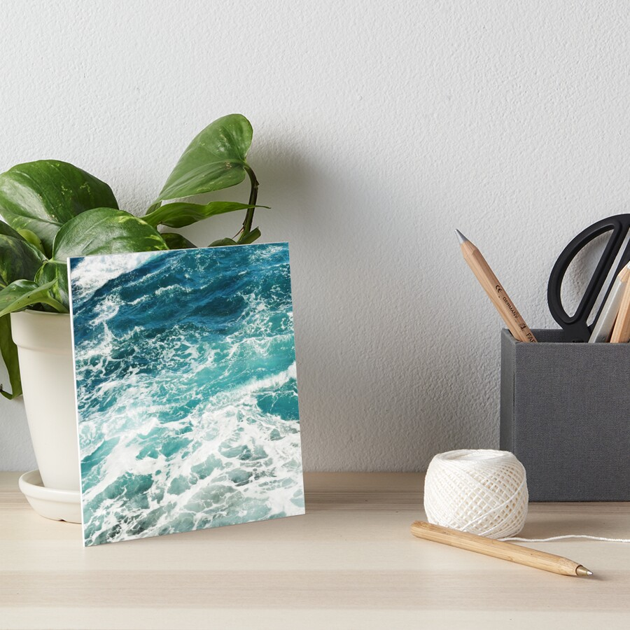 Blue Ocean Waves  Art Board Print
