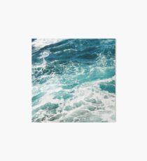 Blaue Meereswellen Galeriedruck