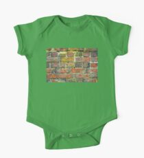 Old Brick Wall Texture One Piece - Short Sleeve