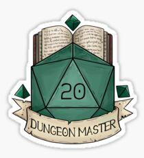 Pegatina D & D - D20 - Dungeon Master