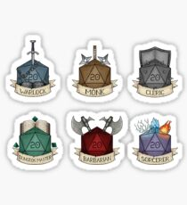 D&D - D20 - Mini Class Selection II Sticker