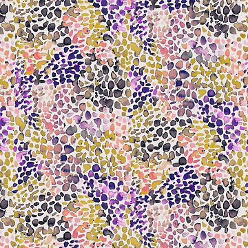 Purple Speckled Watercolor Dots by ninoladesign