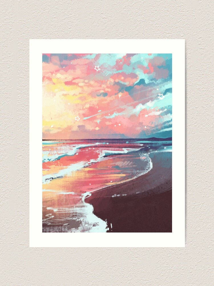 Alternate view of Study of the Sea Art Print