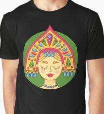 Russian girl in kokshnik Graphic T-Shirt