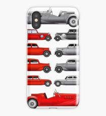Set of vintage cars iPhone Case/Skin
