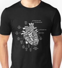 Anatomical Heart T-shirt Anatomical Heart Diagram Tshirt Unisex T-Shirt