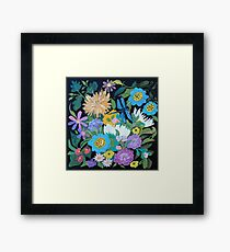 Dragonfly and Flowers Framed Print