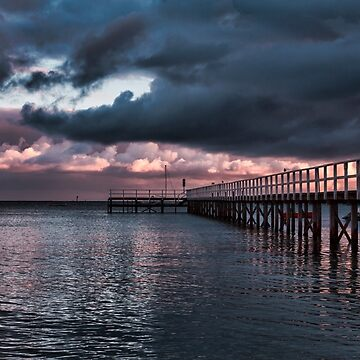 Dramatic Pier Clouds by ea-photos
