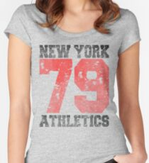 New York athletics 79 Women's Fitted Scoop T-Shirt