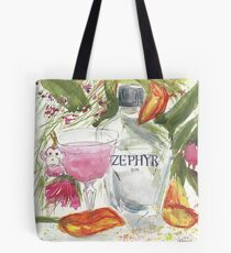 Little Pink Monkey martini with Zephyr Gin Tote Bag