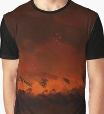 Wild fire nature textured illustration Graphic T-Shirt