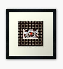 Strawberry and Dark Chocolate Mousse Dessert Framed Print