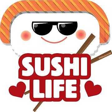Kawaii Sushi Design | Sushi Life Salmon Sushi by OhBoyLoveIt