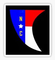 NC Surfboard Fin Decal Sticker