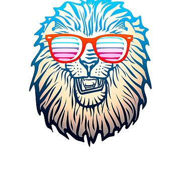 Retro Lion with Sunglasses by benhonda