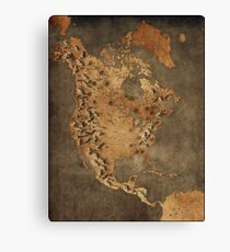 Karte von Nordamerika - Fantasy Theme Leinwanddruck