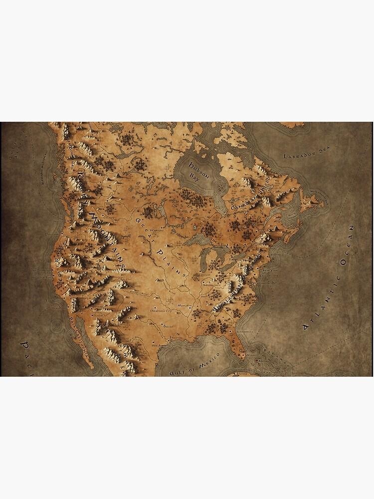 Karte von Nordamerika - Fantasy Theme von callumogden