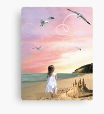Once upon a sandcastle Canvas Print