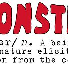 Monster Definition - Red by ArtsAflame