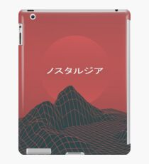 Deep Red Outrun retrowave iPad Case/Skin