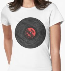 Vinyl Love (red) Women's Fitted T-Shirt