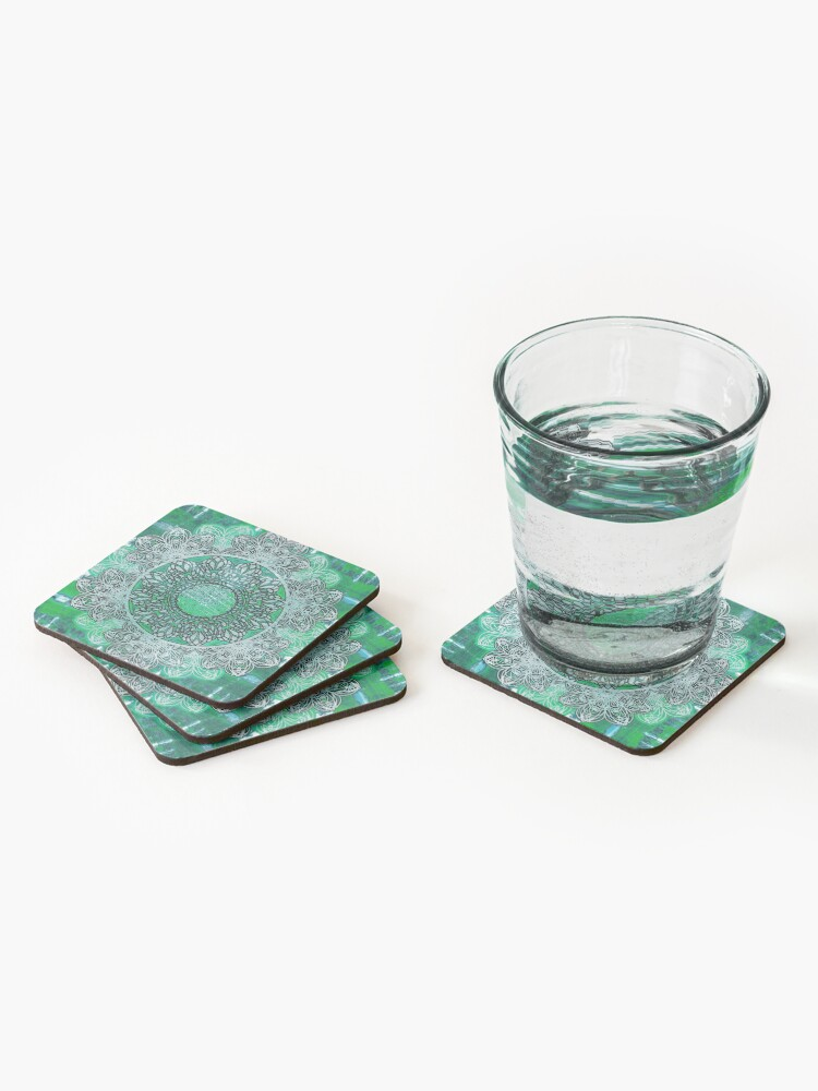 Alternate view of Celtic Mandala Shibori Coasters (Set of 4)