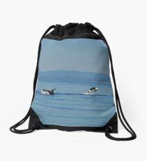 Killer Whales At Play Drawstring Bag