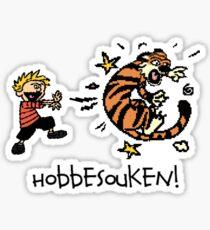 Hobbesouken! - Calivn and Hobbes Mashuip Sticker