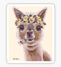 Alpaca Art, Holly the Alpaca Sticker