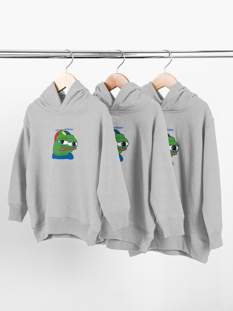Alternate view of Apu Apustaja PepeTheFrog The Helper Hat Sad crying pepe Kekistan wall eyed pepe HD HIGH QUALITY ONLINE STORE Toddler Pullover Hoodie