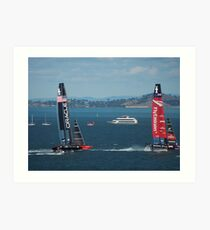 The America's Cup was a close race..... Art Print