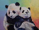 Panda Hugs by Michael Creese