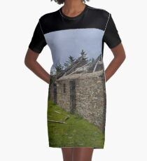 Stonework of a ruin Graphic T-Shirt Dress