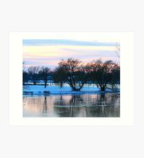 Eastside Lake in November Art Print
