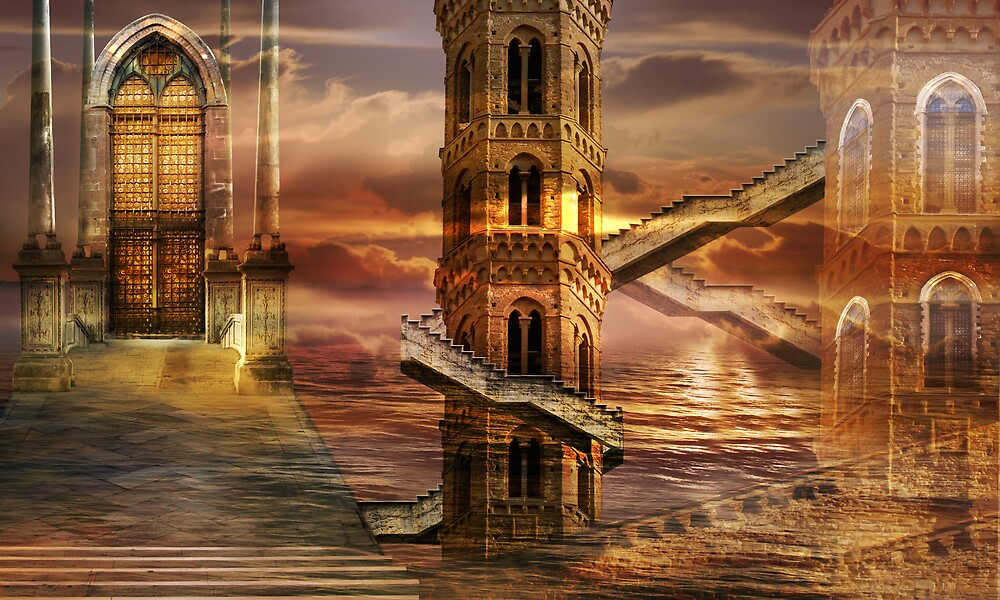 Ethereal towers by sattva