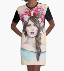 Crown of Roses Graphic T-Shirt Dress