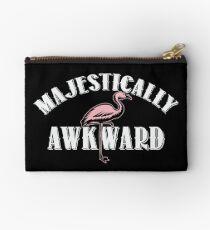 Majestically Awkward Pink Flamingo  Zipper Pouch