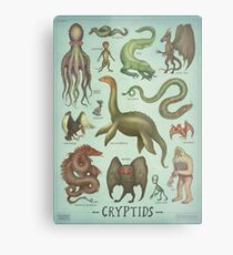 Cryptids Metal Print