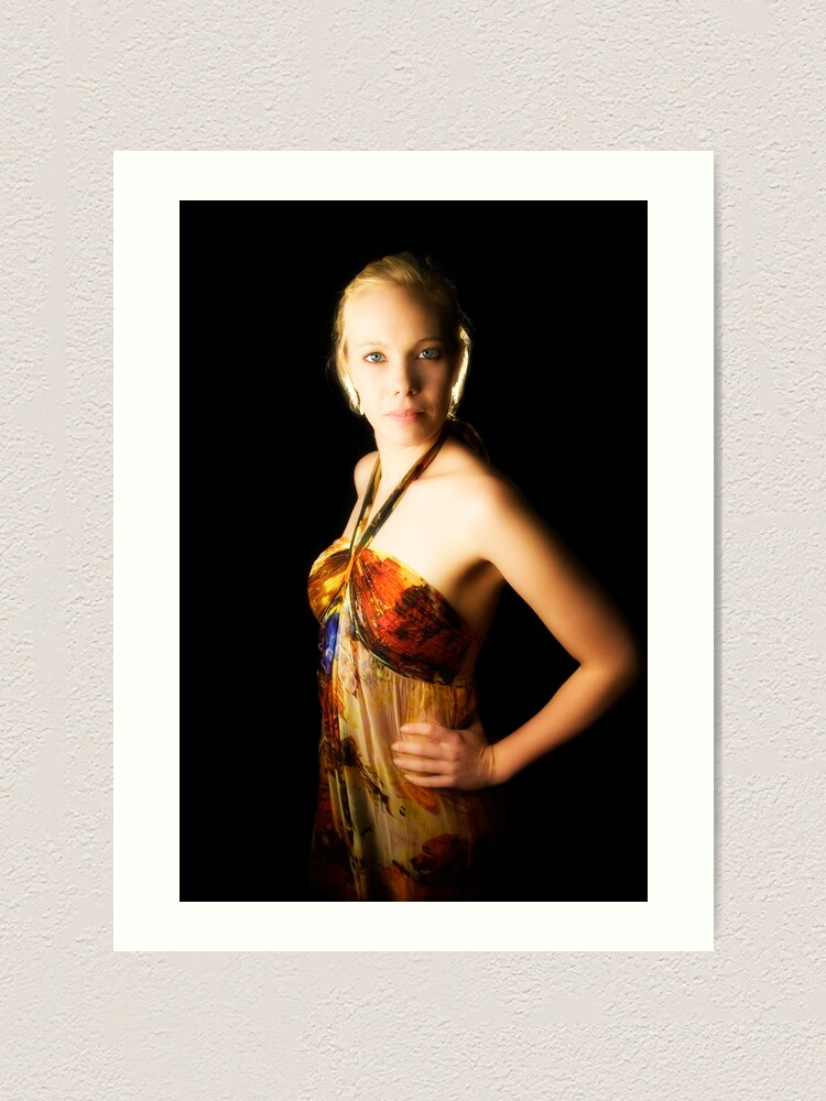 Alternate view of Brooke. With soft glow. Art Print